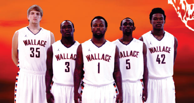 The Wallace State Lions look to make a run at the NJCAA National Championship led by a talented Sophomore class (Pictured Left to right Cody Farley, Marcus Johnson, Sean Anthony, Jestin Lewis, Quinterian McConico) Photo compliments of Wallace State Online Media Guide