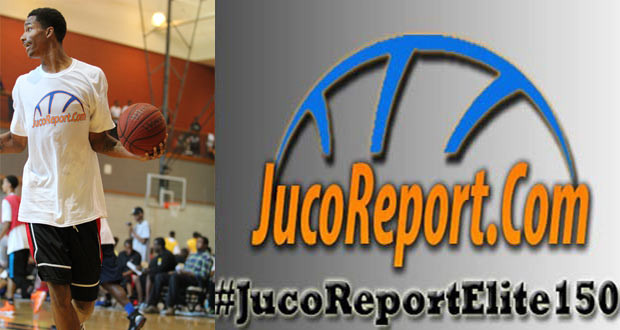 6'8 Denzel Council put on a show at the #JucoReportElite150